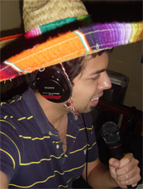 Chris, taping on Cinco de Mayo.