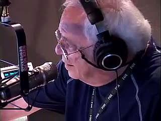 LA legend Larry Van Nuys at the mic at KNX.